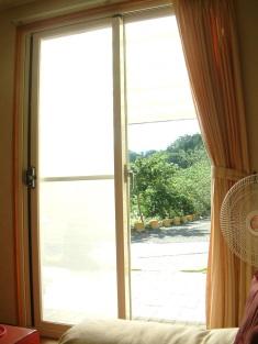 由「綠能樹屋」客廳往外看到的景觀。