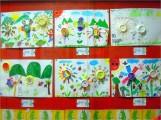 瑞柑國小學生們的「紙筒開花」作品,是立體的美勞~