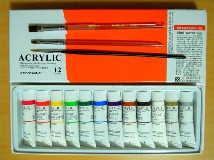 上網查詢後,趁著昨天到台北,行經中坡南路的美術社,買回了塗鴉的工具~