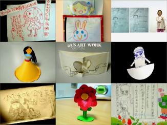 有些 2A 的同學具有繪畫天賦,2A 也會學著塗塗寫寫,有時候會製作些立體紙偶,或在聯絡簿、小餐館的點菜單上隨手塗鴉~