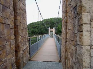 「情人湖」中的「情人湖吊橋」,在此區分為環湖步道的內圈、外圈~