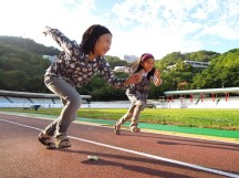 2A 在明志科技大學漂亮的田徑場上短跑競賽~