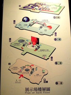 「天文科學教育館」4 個樓層的設施佈署~