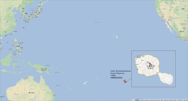 目前播映《衝浪高手》(Ultimate Wate Tahiti)的拍攝地點 - 南太平洋上玻里尼西亞群島中的大溪地~