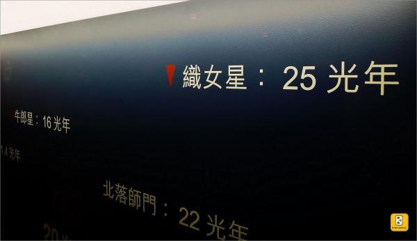 七夕牛郎、織女相會的距離竟是 9 光年之遙(攝於台北天文教育館)~
