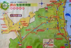 蘭陽平原的旅遊路線圖,標註出不少生態旅遊的景點(攝自「員山生態教育館」海報)