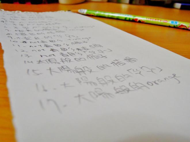 Ann 以「成熟的橘子」為題,練習 20 種不一樣的文字敘述方式~