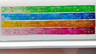 「台北國際書展」主題區裡陳列的展覽之一,以圖表的方式展示出一年四季裡的 24 節氣與其特色~