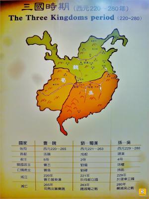 三國簡表(照片攝於「陽明海洋文化藝術館」之「三國展」)